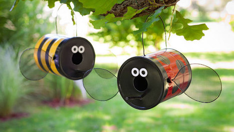 Build a Fun Bug-Shaped Birdfeeder | Upcycled Garden Style | Scoop.it