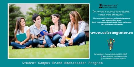 Student Campus Brand Ambassador Program | SelectMyTutor | Scoop.it