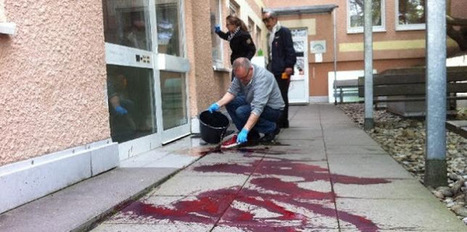 Islam versus Europe: Germany & France: Muslim Buildings Targeted with (Fake?) Blood | The Indigenous Uprising of the British Isles | Scoop.it