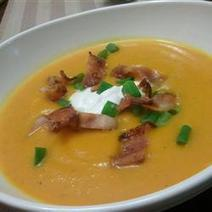Roasted Butternut Squash Soup with Apples and Bacon   My Culinary Passions   Scoop.it