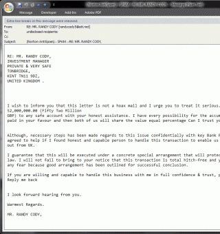 De las 'cartas nigerianas' a las cartas del FBI | Informática Forense | Scoop.it