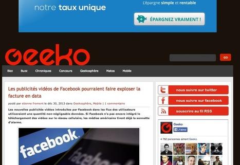 Les publicités vidéos de Facebook pourraient faire exploser la facture en data | #TonUpdate | Médias sociaux (Twitter + Facebook) | Scoop.it