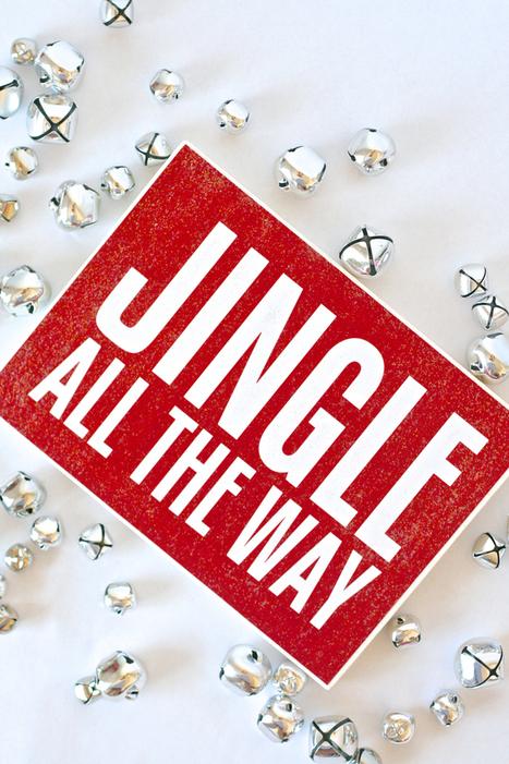 "Mod Podge ""Jingle All the Way"" Sign + Gift | #thingsilove @dealiciousitalian.com | Scoop.it"