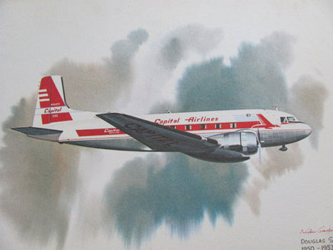 Vintage United Airlines Print Poster - Douglas Super DC -3 1950 - 1953 - Galloway | Daily Paper | Scoop.it