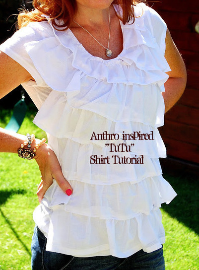 $4 Tee + $1 Dollar Store Towel = Fabulous Anthro-inspired Shirt!! | Dresses | Scoop.it
