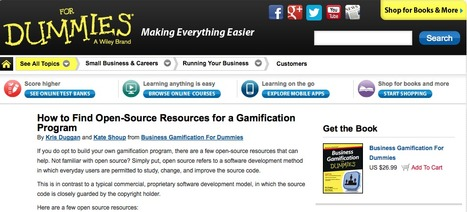 How to Find Open-Source Resources for a Gamification Program? | GAMIFICATE YOURSELF | Scoop.it