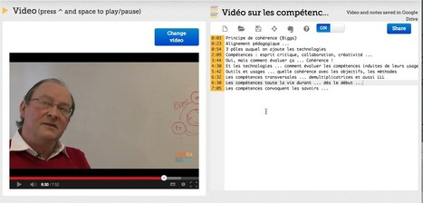 VideoNot.es: The easiest way to take notes synchronized with videos! | Outils pour l'eLearning - Tools for e-Learning | Scoop.it