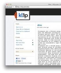 Kl1p Partage de texte et travail collaboratif. | E-apprentissage | Scoop.it