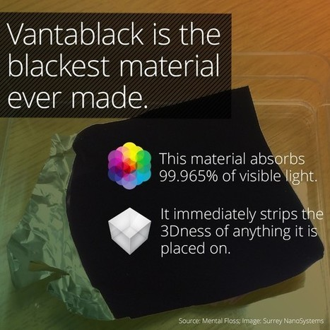 Vantablack Is So Dark, You Can't See It | IELTS, ESP, EAP and CALL | Scoop.it