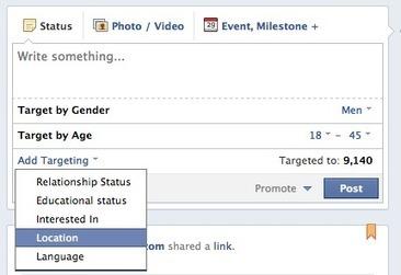 Nouvelle option de ciblage bientôt disponible pour toutes les pages Facebook de 5.000+ fans | Veille et Community Management 2.0 | Scoop.it