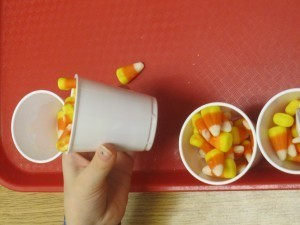 The value of scooping and pouring and counting candy corn in preschool | Teach Preschool | Scoop.it