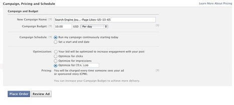 Facebook Launches CPA Bidding - Search Engine Journal | Social Media Moves | Scoop.it
