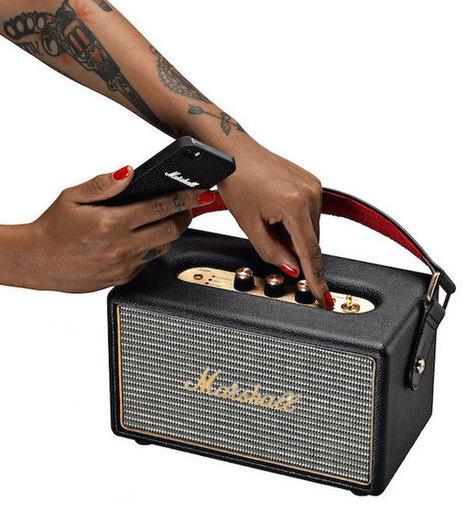 Marshall Kilburn : première enceinte Bluetooth portable de la gamme façon ampli de guitare | ON-ZeGreen | Scoop.it