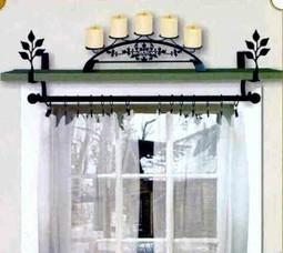 Adding Shelf Space with Curtain Rod Brackets - Curtain-Brackets.com   Window Treatments   Scoop.it