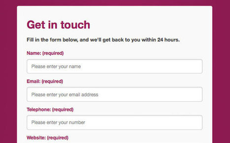 Creating an HTML5 Responsive-Ready Contact Form with ... | JavaScript Apis | Scoop.it