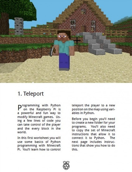 Minecraft Pi recipe cards to download and keep | Raspberry Pi | Raspberry Pi | Scoop.it