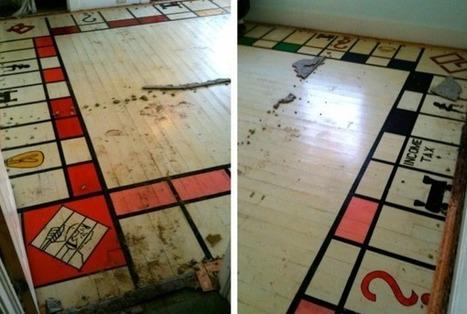 Renovation Reveals Risqué Monopoly Wood Floor - Hardwood Floors (blog) | flooring | Scoop.it