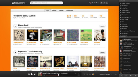 Grooveshark Gets a Makeover | Music business | Scoop.it
