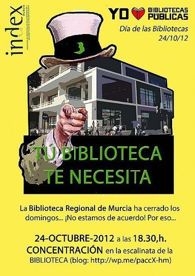 Concentración contra el cierre de la #Biblioteca de la Biblioteca ... - Murcia.com | Index Murcia | Scoop.it