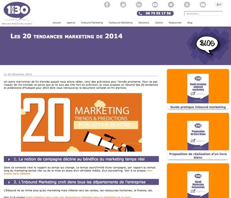 Les 20 tendances marketing de 2014 | #TonUpdate | Relations publiques + Marketing | Scoop.it
