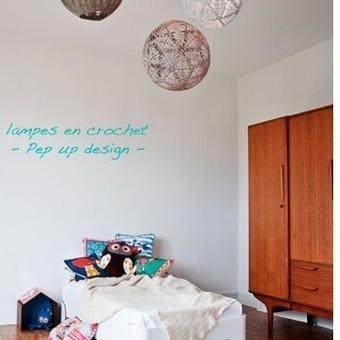 Les coulisses de Marie Claire Maison - Et la lumière fût... légère avec les suspensions crochet   Devis Peinture - Entreprise Peinture-Déco   Scoop.it