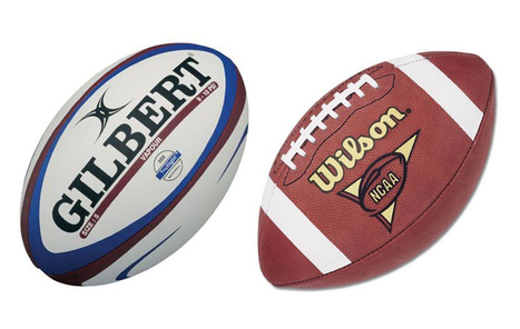 a comparison between two sports american football and rugby American football joins rugby and soccer as sports of choice for many  70  amateur football teams 'balling in all six of australia's states and two.