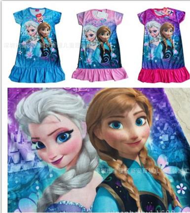 Momo   Frozen Elsa Anna Snow Summer Dress For Girl 2014 New Hot Princess Dresses, Children Clothing Kids Wear-in Dresses from Apparel & Accessories on Aliexpress.com | kid dress | Scoop.it
