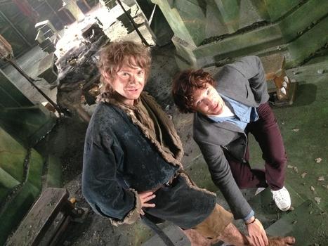 Martin Freeman and Benedict Cumberbatch reunited on the set of The Hobbit!   'The Hobbit' Film   Scoop.it