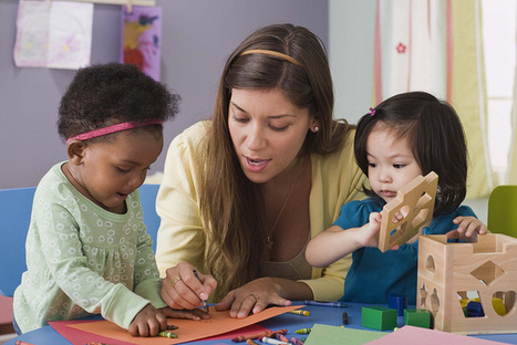 Preschool teacher with toddlers | Observation and Assessment in Early Childhood Education | Scoop.it