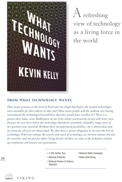 Kevin Kelly - What Technology Wants | The Asymptotic Leap | Scoop.it