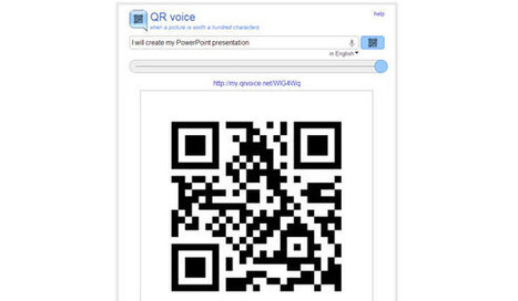 QR Voice: Generates QR Code for a synthesized voice message | PowerPoint Presentation | RECURSOS y APLICACIONES | Scoop.it