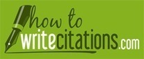 How to Write Citations | Free Citation Generator | Guides | Forum | Be Legal and Fair | Scoop.it