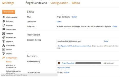 Cómo Crear un Blog Gratis con Google Blogger - Mi Rincón de Artes | Aprendiendo a Distancia | Scoop.it