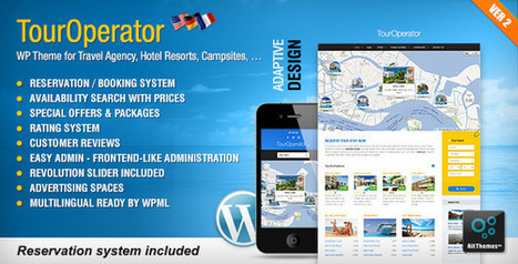 Tour Operator: WP theme with Reservation System | eCommerce Website Templates | Scoop.it