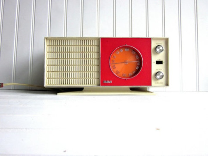 Vintage Radio Red Orange Mid Century RCA by GoodBonesVintageCo | Antiques & Vintage Collectibles | Scoop.it