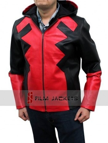 Deadpool Jacket Hoodie Gaming in Red and Black Leather | House of outfits | Scoop.it