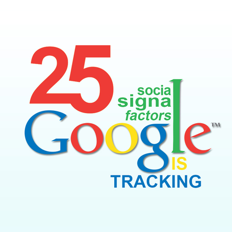 25 Social Signals Google is Tracking - Factors To Optimize for Higher Search Visibility   Mobile Marketing   Scoop.it