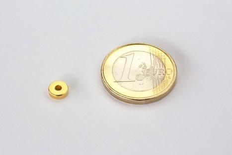 Neodym Magnete und Supermagnete Ringmagnet Ø 6/2 mm, Höhe 2 mm - Neodym Magnet NdFeB, N45, vergoldet Neodym Magnete | Neodym Magnete und Super Magnete im Magnetshop | Scoop.it