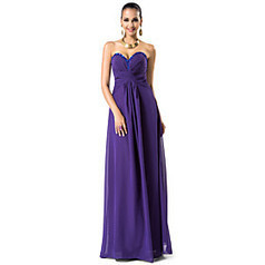 Sheath/Column Sweetheart Floor-length Chiffon Evening Dress | Product We Love | Scoop.it
