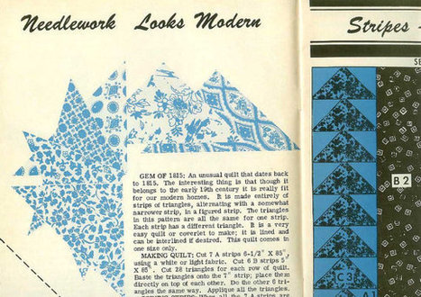 Museum Quilts Vintage Historical Pattern Book for Antique Quilts Made Between 1815 & Middle 19th Century | Vintage Living Today For A Future Tomorrow | Scoop.it