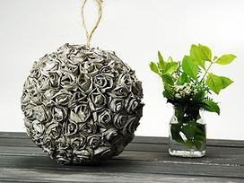 Manualidades y Artesanías | Esfera con rosas de papel | FOXlife.com | Con tus propias manos - Lola | Scoop.it