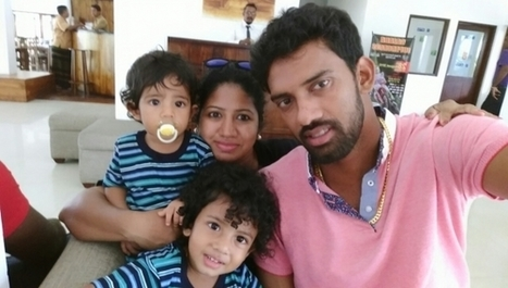 (Photos) Sachithra Senanayake with his family | Sri Lanka Cricket | Scoop.it