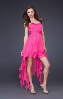 Haute basse robe rose soiree sans bretelles LF15087 :   fashionrobe   Scoop.it