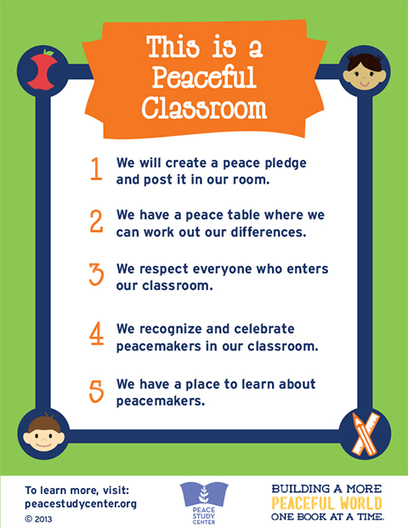 Peace Poster Set for Library and Classroom | Peace Study Center | EDCI397: PBL and Classroom Climate | Scoop.it