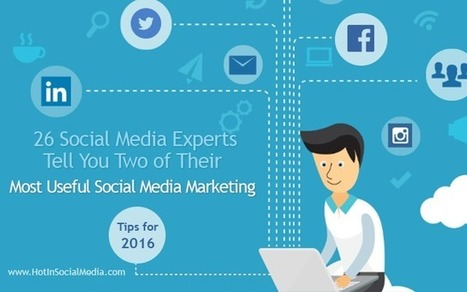 26 Social Media Experts Tell You Two of Their Most Useful Social Media Marketing Tips for 2016 | Take Your Social Media to the Next Level | Scoop.it