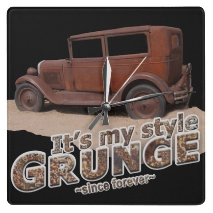 It's My Style GRUNGE Rusty Car & Letters Wallclocks | Z Artwork | Scoop.it