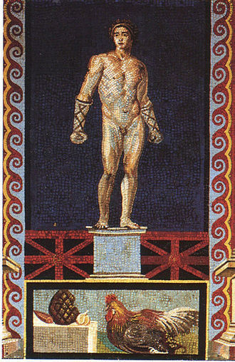 Fist fighter. Roman mosaic (glass paste) from Pompeii | Roma Antiqua | Scoop.it