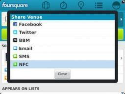 Foursquare for Blackberry updated with NFC support | Marketing in the physical world | Scoop.it