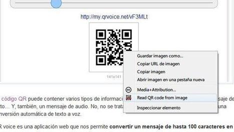 Lee códigos QR en la web desde Chrome con QRreader | VIM | Scoop.it