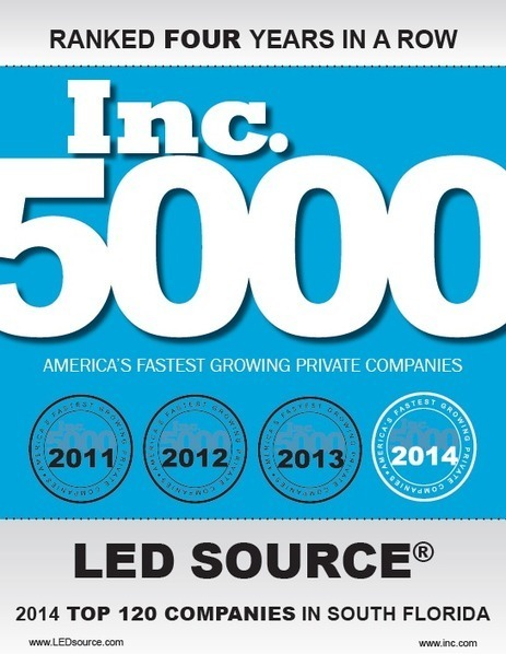 LED Source ranks 4 years in a row for inc. 5000   LED Lighting   Scoop.it